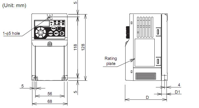 Biến tần Mitsubishi FR-D720-0.2K