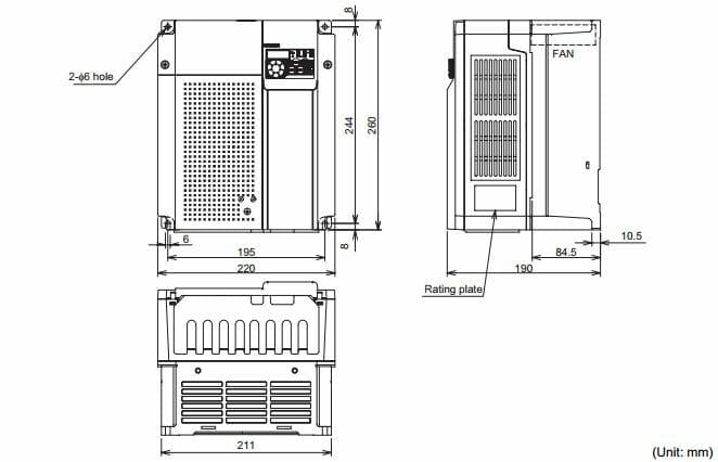 Biến tần Mitsubishi FR-D720-11K