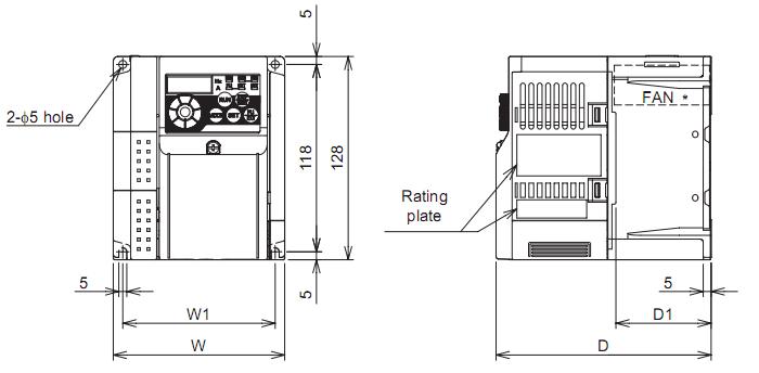 Biến tần Mitsubishi FR-D740-0.2K