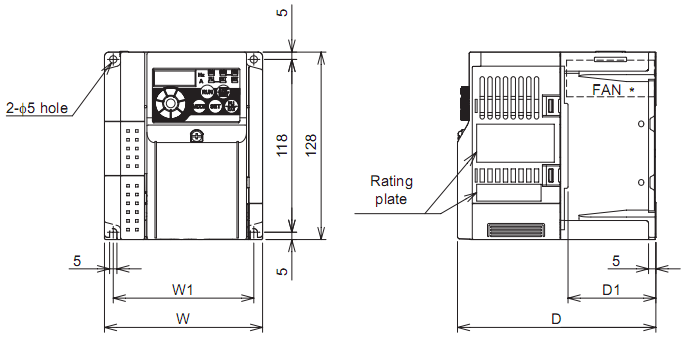Biến tần Mitsubishi FR-D740-1.5K