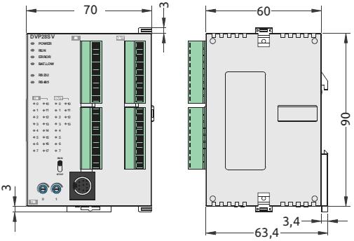 Bộ Lập trinh PLC Delta DVP28SV211T