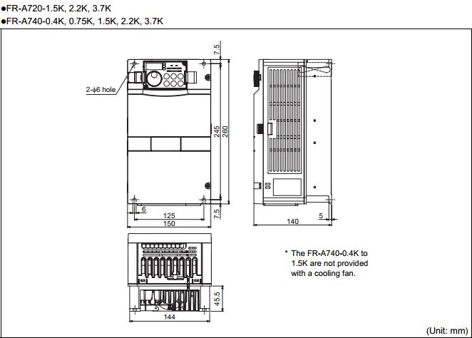 Biến tần Mitsubishi FR-A720-3.7K
