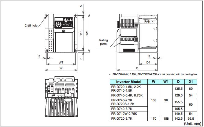 Biến tần Mitsubishi FR-D720S-1.5K