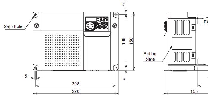 Biến tần Mitsubishi FR-D720-5.5K